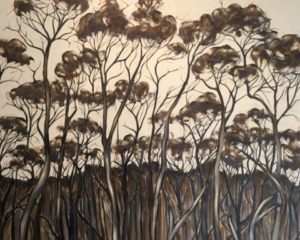 Ursula Theinert-Coastal Scrub-Acrylic on Canvas-91-x-91cm