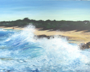 Ellen Palmer Hubble - Undertow Bay - Oil on Canvas - 100x50cm