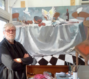 John Mutsaers in his studio