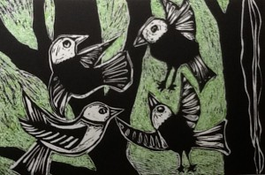 Bev Mitchell-Symons--Flock of Birds
