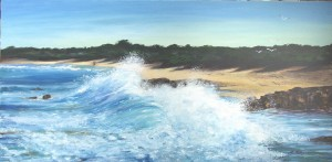 Ellen Palmer Hubble-Undertow Bay-Oil on Canvas-100x50cm
