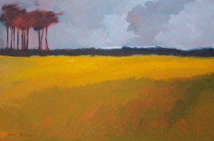 John Mutsaers--Golden Fields, oil on canvas, 91x61cm