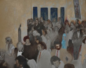 Ken Griffiths--The Reception. Oil on acrylic on canvas
