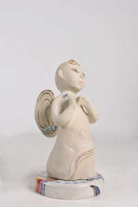 Laurel-Billington-Angel-Hand-built-stoneware-underglaze-glaze-slip-and-lustre-decoration-30x16cm-