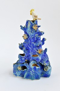 Laurel-Billington-Jewellery-Tree-Hand-built-stoneware-underglaze-glaze-and-lustre-30x17cm